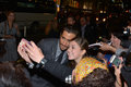 Toronto international film festival september actor jake gyllenhaal takes a selfie with fans at the for his new Stock Image