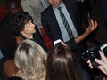 Toronto international film festival september actor jesse eisenberg takes a selfie with fans at the for his new night Stock Photography