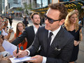 Toronto international film festival september actor michael fassbender signs autograph at the for his new years a Royalty Free Stock Photo