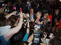 Toronto international film festival september actress kate winslet signs autographs for fans at the for her new labor Stock Photos