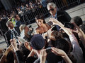 Toronto international film festival september actress sandra bullock signs autographs for fans at the for her new Royalty Free Stock Photography