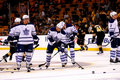 Toronto Mapleleafs warm-up Royalty Free Stock Photography