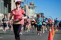 Toronto marathon may more than runners and walkers take part in the th annual goodlife fitness on may Stock Photo