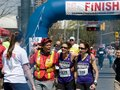 Toronto marathon may runner experiences extreme exhaustion after the finish more than runners and walkers take part in the th Royalty Free Stock Photo