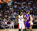 Toronto Rapters vs. Los Angeles Lakers Royalty Free Stock Photos