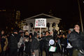 Toronto s black community takes action in solidarity with ferguson protesters ontario canada th tuesday november hundreds of Royalty Free Stock Image