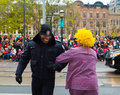 Toronto santa claus parade canada th november participants taking part in the in Royalty Free Stock Photo