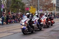 Toronto santa claus parade canada th november police taking part in the in Royalty Free Stock Photography