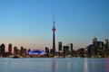 Toronto silhouette before nightfall Royalty Free Stock Photo