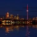 Toronto skyline at night Royalty Free Stock Photography