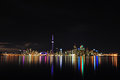 Toronto skyline night canada Royalty Free Stock Photo