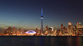 Toronto skyline at night ontario canada Stock Photos