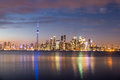 Toronto Skyline at night - Toronto, Ontario, Canada Royalty Free Stock Photo