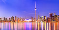 Toronto skyline in Ontario, Canada. Royalty Free Stock Photo