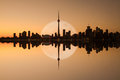 Toronto Skyline Reflection Royalty Free Stock Photography