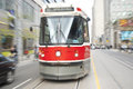Toronto streetcar iconic on queen street in downtown canada Stock Images