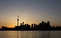 Toronto Sunset Silhouette with copy space Royalty Free Stock Photo