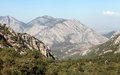 Toros Mountain from Termessos, Antalya. Royalty Free Stock Images