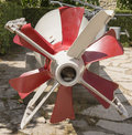 Torpedo propeller red close up Stock Photography