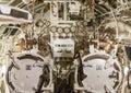 Torpedo room in submarine. Royalty Free Stock Photo