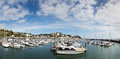 Torquay england a panoramic view of harbourside Stock Photo