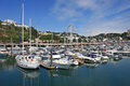 Torquay harbour boats moored in marina Royalty Free Stock Photo