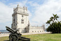 Torre de belem tower of situated in lisbon portugal picture taken april Stock Photos