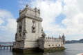 Torre de belem tower of situated in lisbon portugal picture taken april Royalty Free Stock Photos