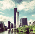 Torre de willis em chicago Fotografia de Stock Royalty Free