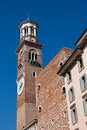 Torre dei Lamberti (Lamberti Tower) Stock Photos