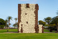 Torre del conde the the tower of the earl is the only medieval fortification at the island of la gomera Royalty Free Stock Images