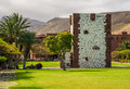 Torre del conde the the tower of the earl is the only medieval fortification at the island of la gomera Stock Image