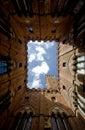 Torre del Mangia, Piazza del Campo, Siena, Italy Stock Photography