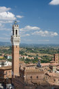 The Torre del Mangia, Sienna Royalty Free Stock Photos