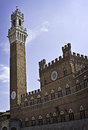 The torre del mangia sienna italy a view of Stock Photo