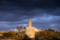 Torre del Oro in Seville at Sunset Royalty Free Stock Photo