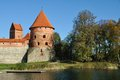 Torre do castelo de Trakai, Lithuania Foto de Stock