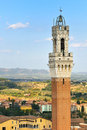 Torre Mangia (siena) Stock Photos