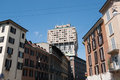 Torre Velasca in the city center of Milan Stock Photography