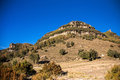 The torrent de gravet photograph of a hill in near rupit village catalonia spain Stock Images