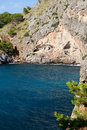 Torrent de pareis sa calobra bay in majorca spain Royalty Free Stock Image