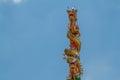 Torres de la estatua dos de los dragones Imagenes de archivo