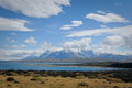 Torres del paine national park a lake in in the patagonia region of chile Stock Photography
