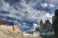 Torres del paine in patagonia chile Royalty Free Stock Photo