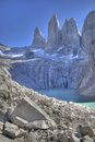 Torres del paine view Stock Photo