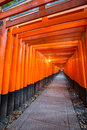 Torri gates kyoto thousands of vermilion torii at fushimi inari taisha shrine in japan Stock Photo