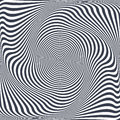 Torsion illusion. Abstract design. Royalty Free Stock Photo
