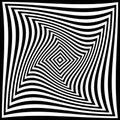 Torsion illusion pattern, optical geometric design Royalty Free Stock Photo