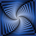 Torsion movement illusion. Abstract blue background. Royalty Free Stock Photo