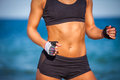 Torso of athletic fitness woman close up Royalty Free Stock Photos